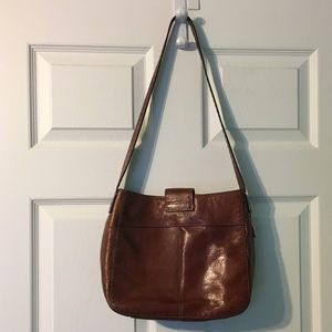 Fossil Bags - Fossil Leather Purse Boho Stitched Shoulder Bag